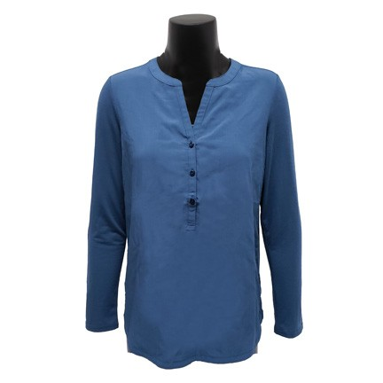 Ladies Henley Tunic Shirt