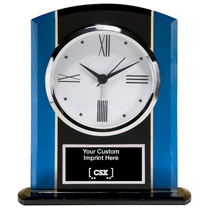 Glass Clock with Custom Engraving