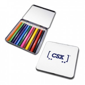12 Piece Colored Pencil Tin